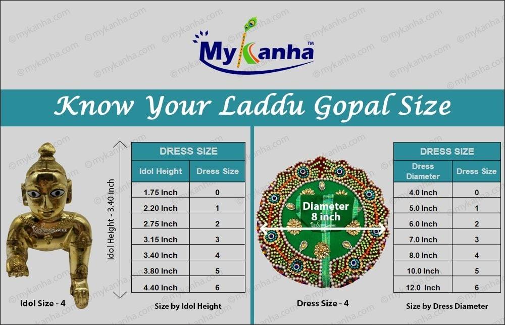 Laddu Gopal Size Chart Mykanha