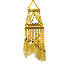 Beautiful White & Golden Beads Decorative Jhoomar