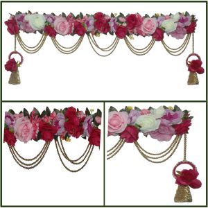 Artificial Rose Decorated Bhandanwar For Home Decoration