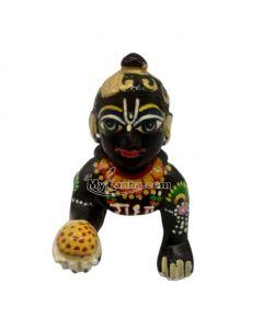 Beautiful Black Heavy Brass Laddu Gopal Idols